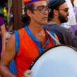 Artist playing drums in a cuban street carnival — Stock Photo #11609797
