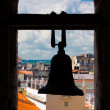 Silohuette of a bell with a view of Havana — ストック写真