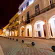 Colonial buildings in Old Havana at night — Stock Photo #11745260