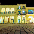 Stock Photo: Colonial buildings in Old Havana at night