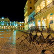 Square in Old Havana illuminated at night — Stock Photo #11745266