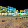 Square in Old Havana illuminated at night — Stock Photo #11745267