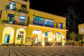 Outdoors cafe at night in Old Havana — Stock Photo