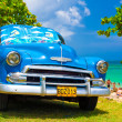 Old american car at a beach in Cuba — Stock Photo #11836848