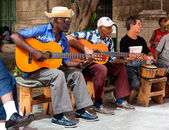 Band playing traditional music in Old Havana — Stock Photo