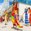 Group of street dancers in Old Havana - Stock Photo