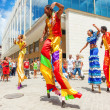 Stock Photo: Group of street dancers in Old Havana