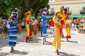 Dancers at a carnival in Old Havana — Stock Photo