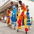 Tropical dancers in Old Havana — Stock Photo