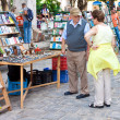 Tourists visiting popular street market — Stock Photo #12069691