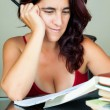 Royalty-Free Stock Photo: Young latin woman studying