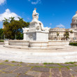 Famous fountain and the Capitol of Havana — Stock Photo #12203664