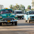 Stock Photo: Vintage Chevrolet near Capitol in Havana