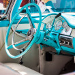 Interior of a vintage american car — Stock Photo