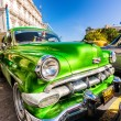 Vintage Chevrolet parked in Old Havana — Stock Photo