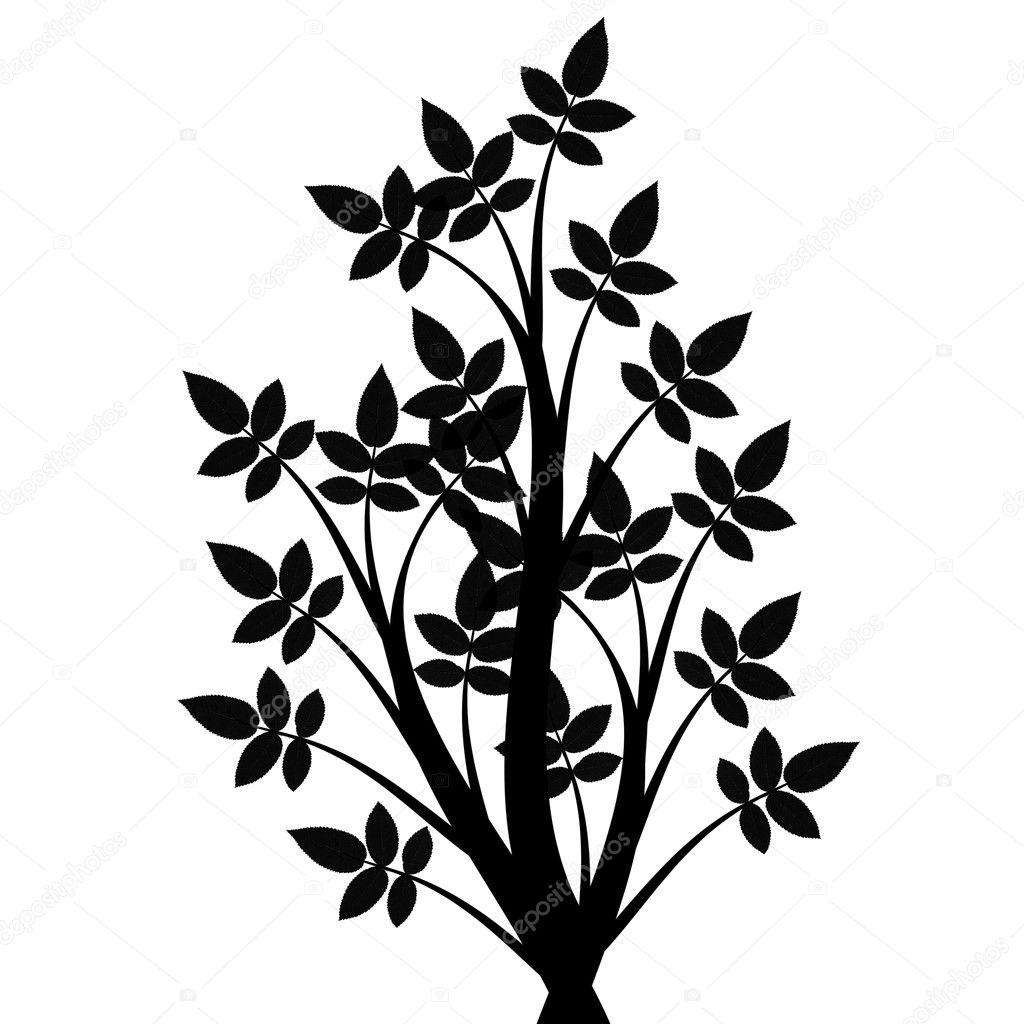 艺术树剪影
