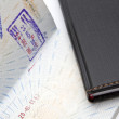 Stock Photo: Immigration stamps