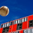 Stock Photo: Baseball Scoreboard with Homerun