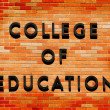 College of Education sign — Zdjęcie stockowe