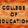 College of Education sign — Stockfoto