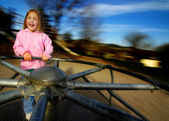 Little Girl Playing at Park — Stock Photo