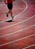 Running a Race — Foto de Stock