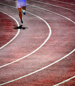 Running on Track — Stockfoto