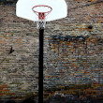 Urban Basketball Court — Stock Photo