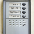 Modern doorbell plate crisis failure downfall success — Stock Photo #11095887