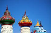 Vista de los tejados en forma imperiales en estilo oriental — Foto de Stock