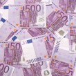 Background of european currency 500 notes — Stock Photo