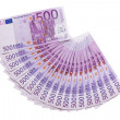 500 euros banknotes fan isolated — Stock Photo #11533688