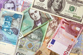 Background of european currencies — Stock Photo