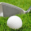 Focus on golf ball — Stockfoto