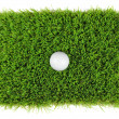 Golf ball from above — Stok fotoğraf