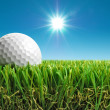 Golf ball in the sun — Stok fotoğraf