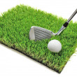 Golf club and ball — Stockfoto