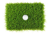 Golf ball from above — Stock Photo