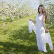 Apple Blossom Woman — Stock Photo
