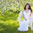 Apple Blossom Woman — Stock Photo #10837207
