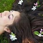 Apple Blossom Woman — Stock Photo #10837366
