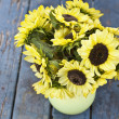 Stock Photo: Fall Sunflowers
