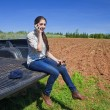 Young Woman Farmer - Stock Photo