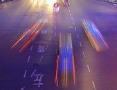 Noc ruchu w szanghaju — Zdjęcie stockowe