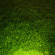 Dark contrasted green grass background - Stock Photo