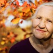 Autumn elderly woman — Stock Photo #12353421