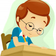 Stock Photo: Geeky Student