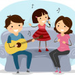 Singing Family — Stock Photo