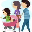 Stock Photo: Family Stroll