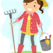 Female Gardener — Stock Photo